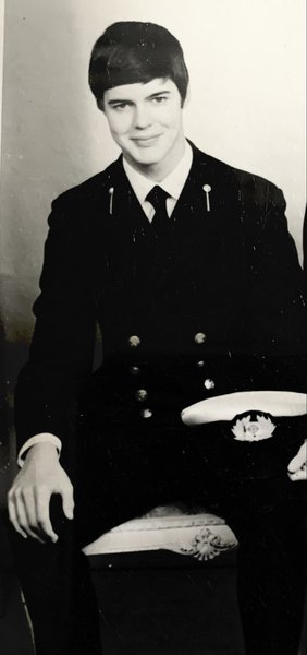 My handsome cousin in his navy uniform. ❤️  Goodnight and God bless sweetheart. xxx