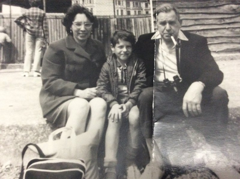 Billy with mum and dad (always Billy at this age)