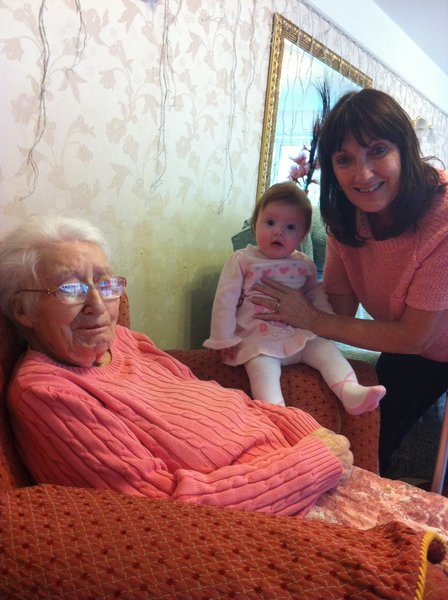HAPPY 100TH BIRTHDAY TO A VERY SPECIAL LADY. MUM, NAN, AND GREAT NAN. WISH YOU WERE HERE WITH US TO CELEBRATE. LOVE YOU FOREVER XXXX