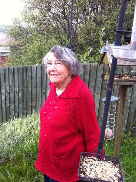 Mum in my garden May 2012