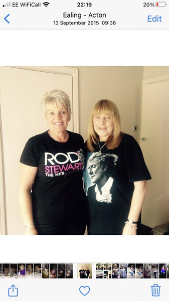 One of our many trips to see Rod Stewart in concert.