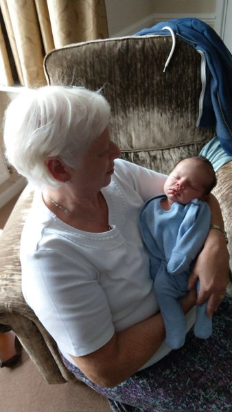 Great Aunty Chris with Louis