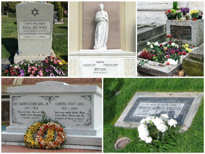 Epitaphs on famous graves