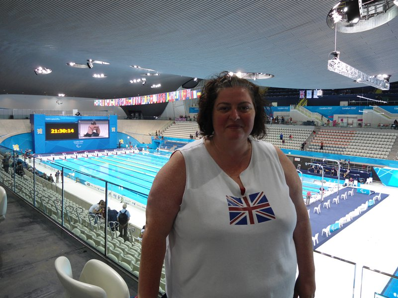 Sharon at the British Summer Olympics in 2012.
