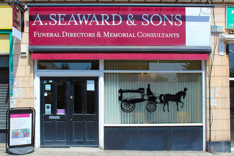 A Seaward & Sons Funeral Directors. New Southgate, London, funeral director in London