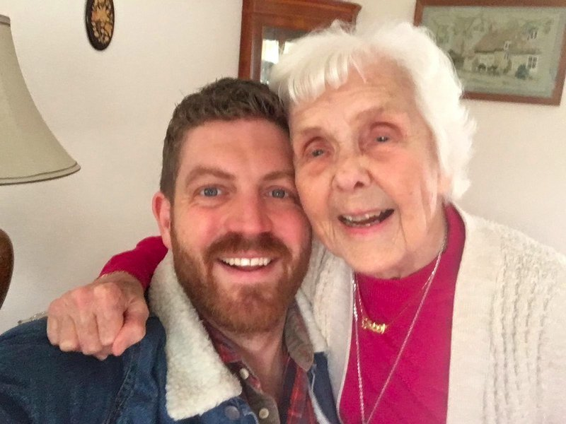 We will miss you Grandma! I will fondly remember the trips up north filled with kerplunk/yahtzee, sledging, setting up toys soldier battles, reading the Victor annuals, our trip to France, your 90th party and the well stocked biscuit jar! Rest in Peace x