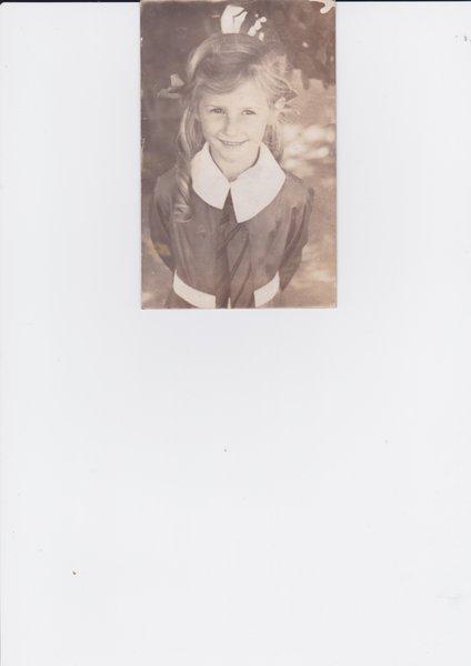 Molly as a schoolgirl