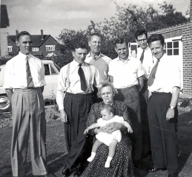 Ivor with youngest son,mother in-law and brother  in-law's probably in the 1960. Ivor and Vera were always so friendly and welcoming when we visited as a family.