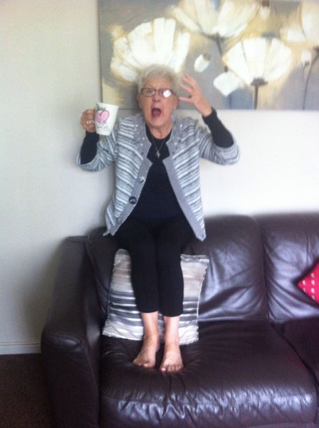 Mum realising she'd drank all of her tea! 😊
