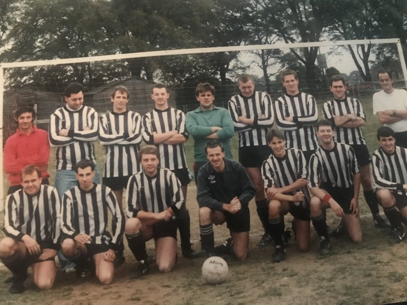 Dad playing in the football Sunday league for his team ripon rangers during the 80s. He loved his football and was a big Liverpool fan...ynwa dad...RIP dad...love you always, Julie and all the family xxx