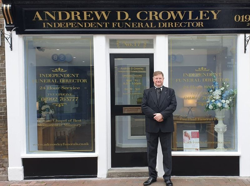 Andrew D Crowley Independent Funeral Director, Essex, funeral director in Essex