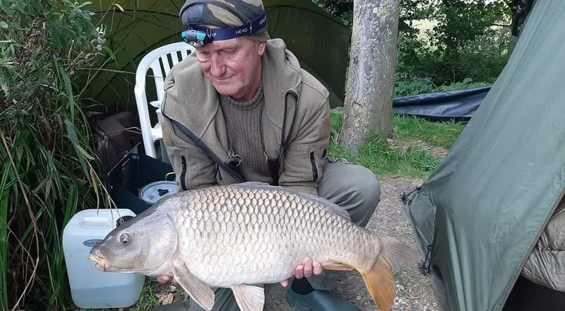 We've just had a session at our memorable double swim at Beachborough. This one was the best, a 19.5 common; caught by me, landed by Norilyn and dedicated to you. We take you with us in our hearts everywhere we go, God bless you Martin xx