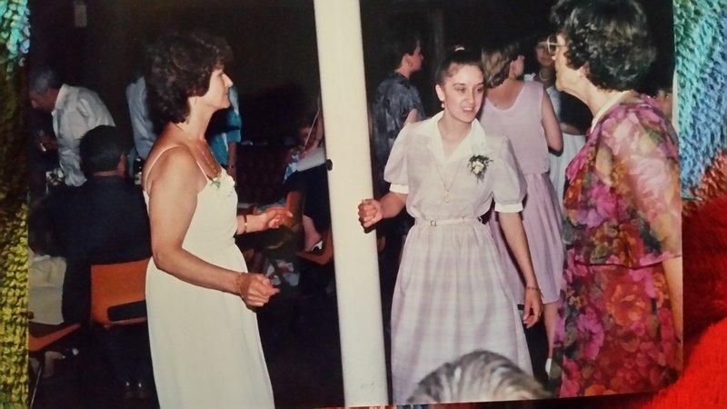 June dancing the night away with Auntie Grace & Auntie Flo.