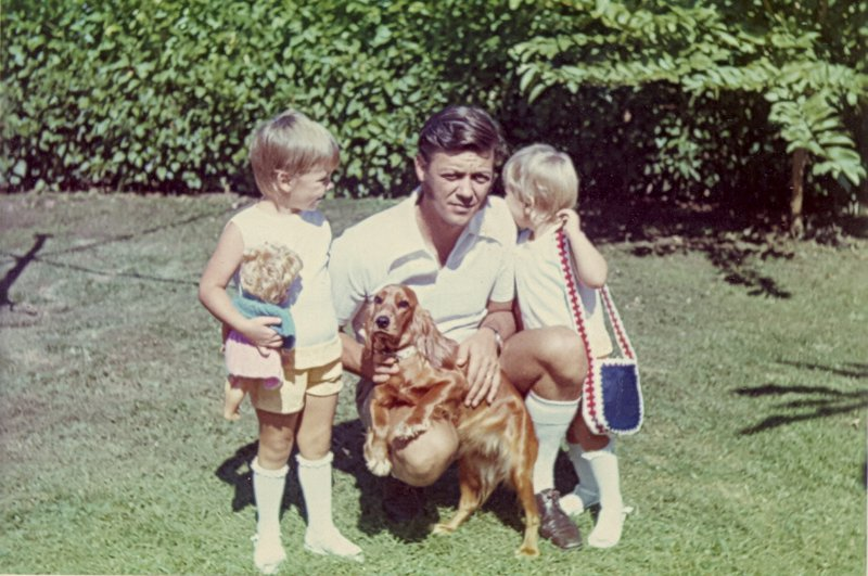 Dad with Pam and me and Wuppy Puppy.