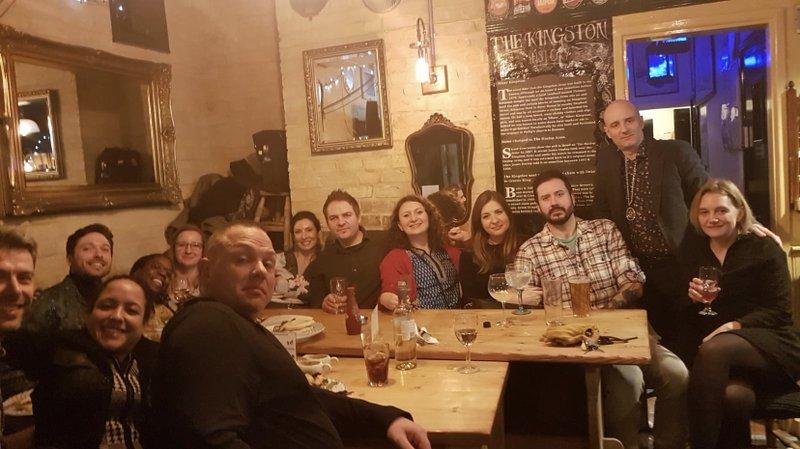 Paul with Genomics England staff in Cambridge