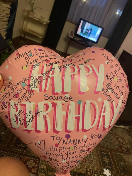 Erica , Heidi and poppy wishing you a happy heavenly birthday  I hope our balloon made it over the rainbow and straight to you and put a smile on your face. We all love you so much ❤️