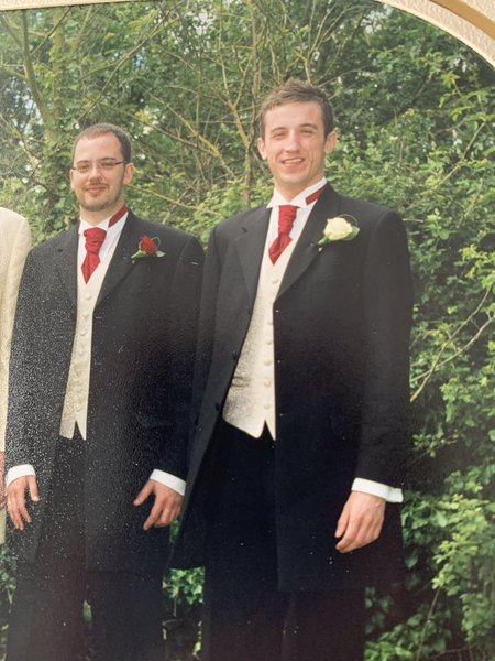 Dave and Chris at the wedding