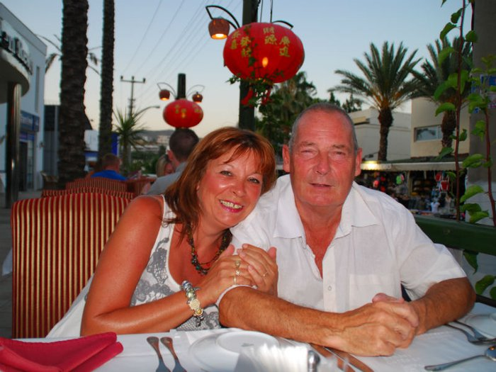 Jakki Smith pictured with her late partner of 16 years, John Bulloch