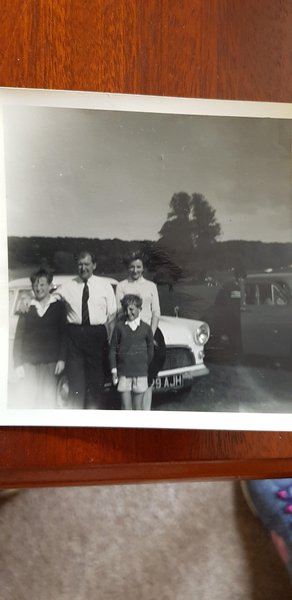 Mum, dad, Roger and me.