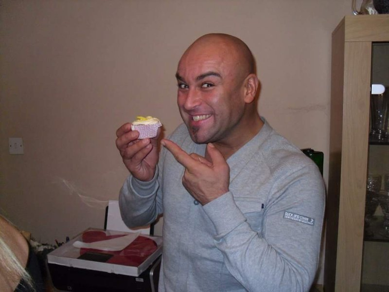 Matt had a sweet tooth. Webmade him loads of cakes, sweets and marzipan fruits. Here he is posing with his favourite cupcake xx
