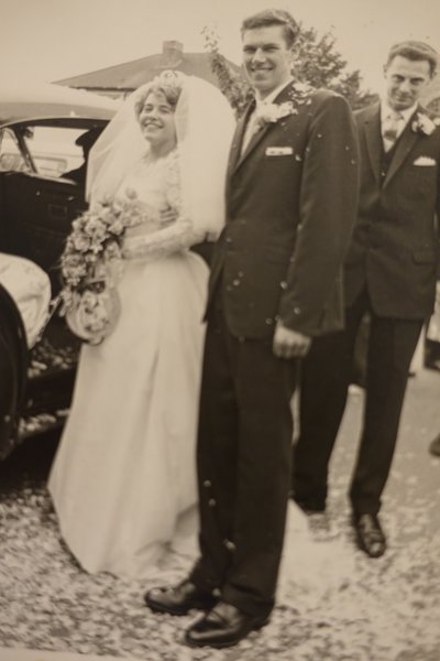 Trevor was best man at my brother John Reader's wedding to Carol in 1965.   A favourite photo and probably the only one I have of Trevor!