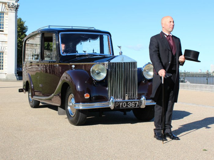 Funeral director Simon Dyer of funeral directors FA Albin & Sons