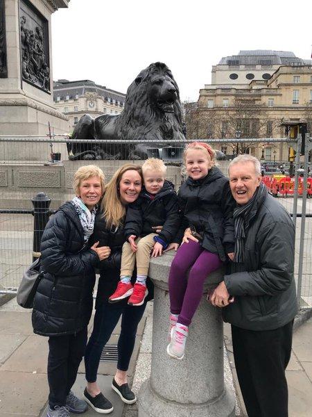 Dad, Mum, Annie, Olivia and Max