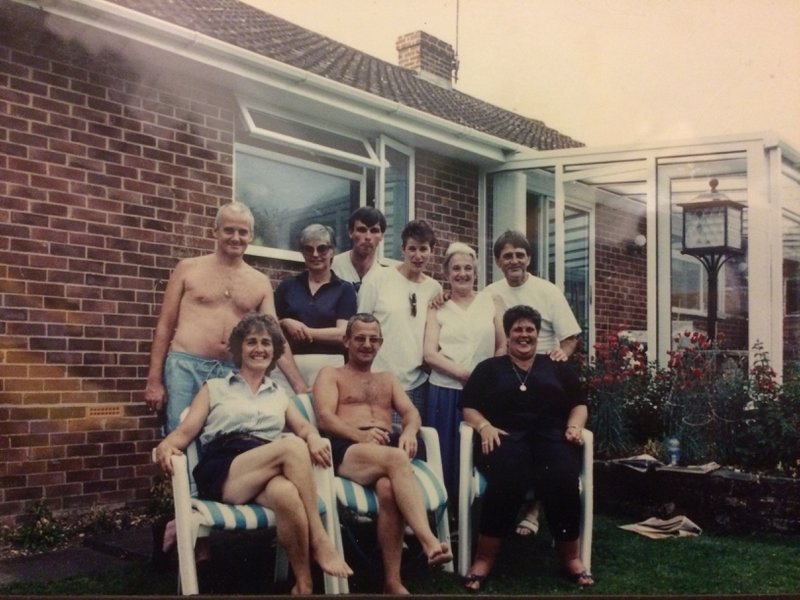 Such a great picture, all united - you loved this picture having been placed in a prominent position at your home. Love you Mum X