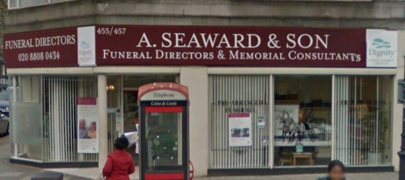 A Seaward & Sons Funeral Directors, Palmers Green, London, funeral director in London