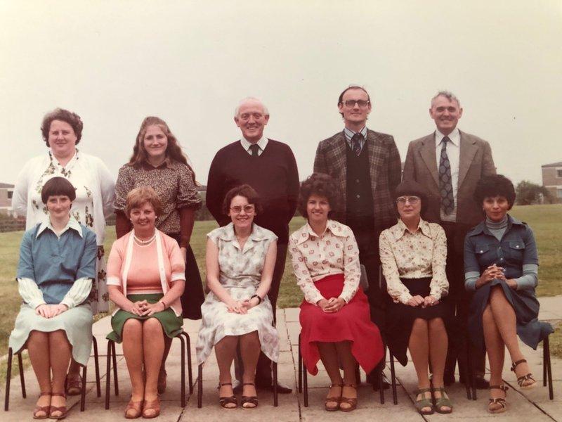 The staff of St Matthew's RC school (mid-1970's).