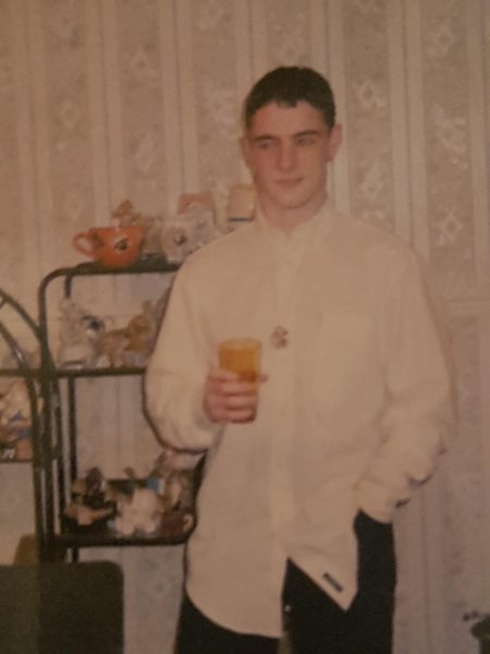 Scott at new yrs in my granny thomsons hoose handsome guy he was xx