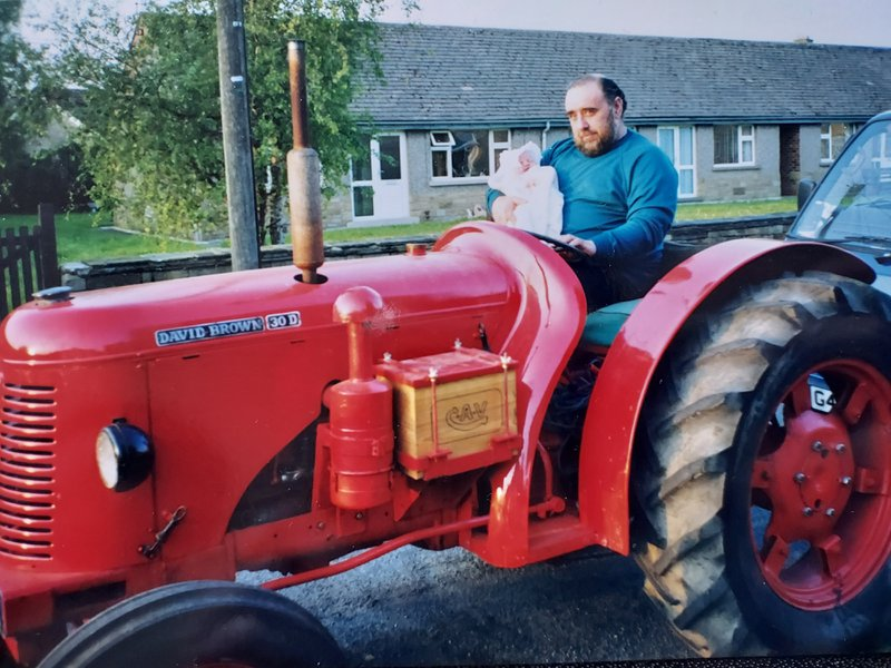 Grandad introduced me to tractors at about 2 days old x