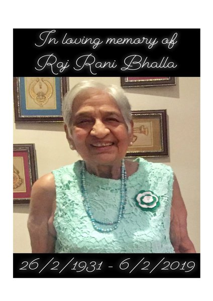 Raj Rani Bhalla