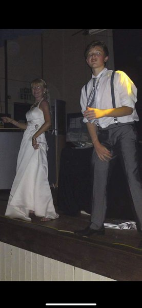 My wedding 👰 day and you was my dancing husband for the night 🥰 miss you loads wish I could of done anything to change your thought of mind that night Luke miss you millions till we meet again stay straight and hold tight love you millions sleep tightx