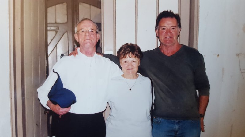 Jean with her 2 brothers Mick & John