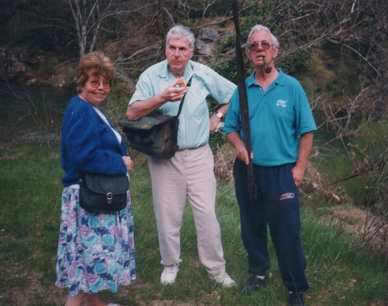 Visiting the Tarn gorges with Mike and Kath 1999