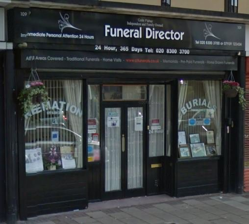 Colin Fisher Funeral Directors, London, funeral director in London