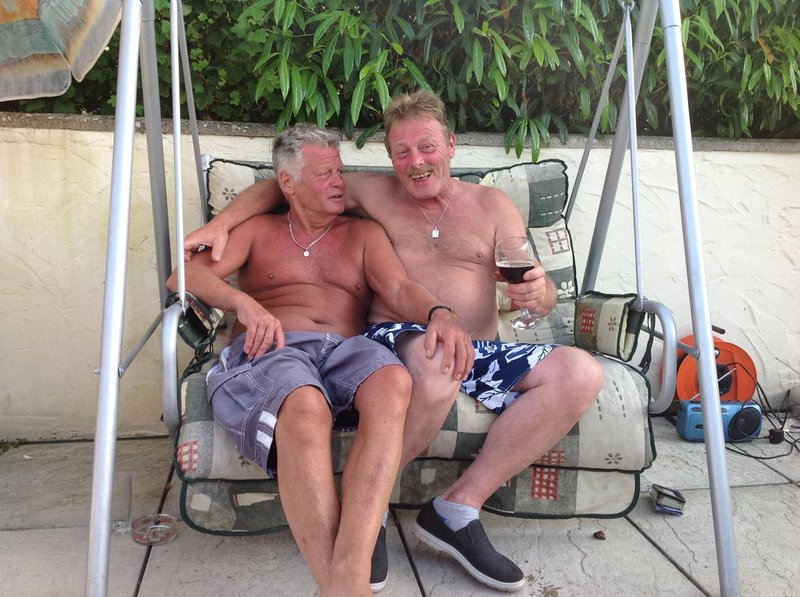 This is how I will always remember Mick. Life and soul of every party and brilliant BBQ host