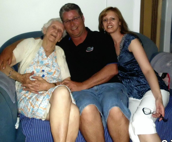 Nana, Mike & Nicki (Nans 95th Birthday)