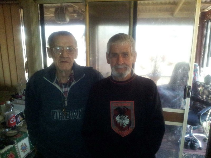 Kevin and his brother Alan a couple of years ago.