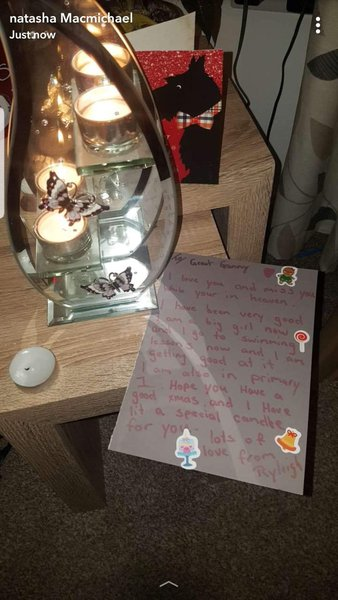 Letter from Ryleigh Jean for her wonderful Great Gran.  Xxxx