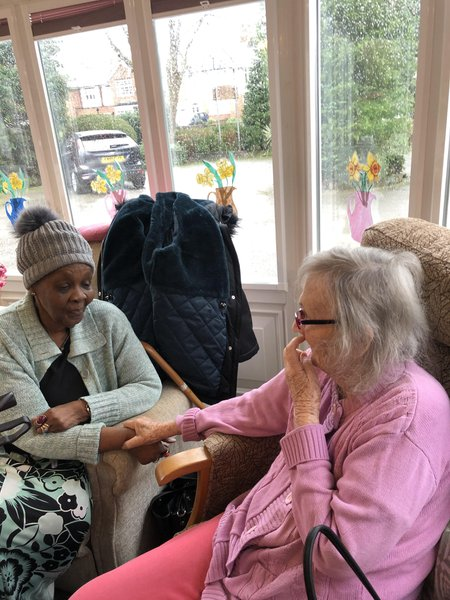 Mum and Sylvia taken in February 2020 lifelong friends. Always in our hearts