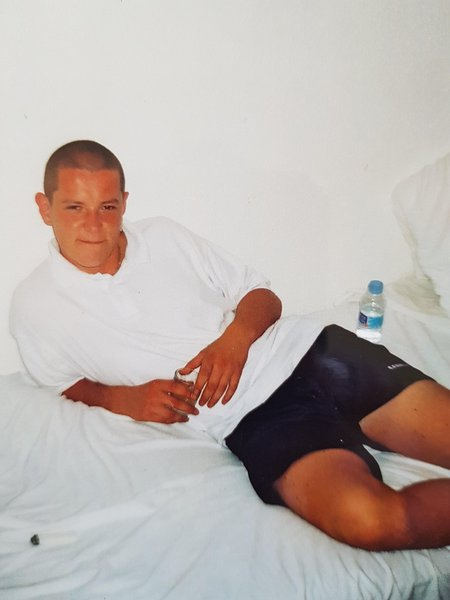 On holiday in Ibiza, September 2001