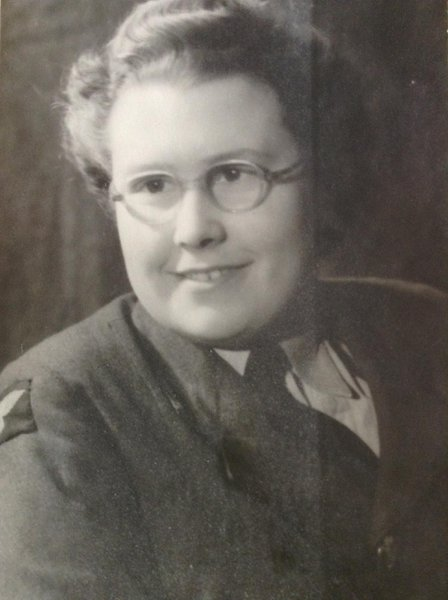 Mum in her WAAF uniform when she was based at RAF Chivenor during WW2.