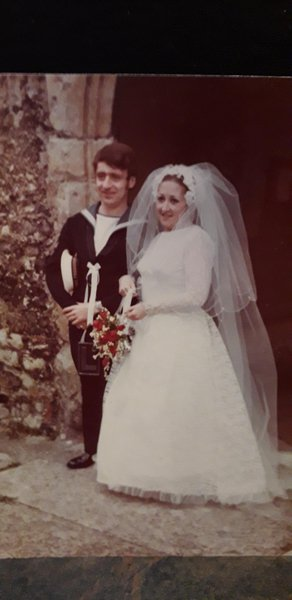 Happiest day married on her birthday 19th May 1973