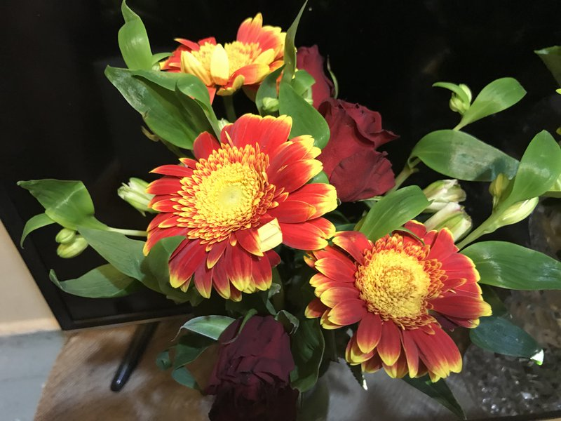 Flowers from Alex Goulding.