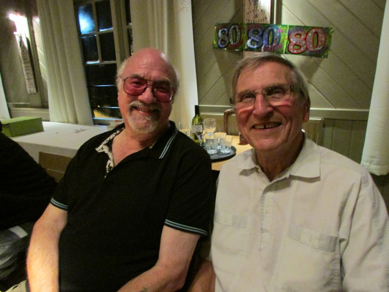 Kevin with his Uncle Jim. We're sure they're now sharing some laughs together. xxx