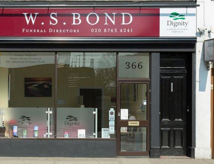 W S Bond Funeral Directors, Shepherds Bush