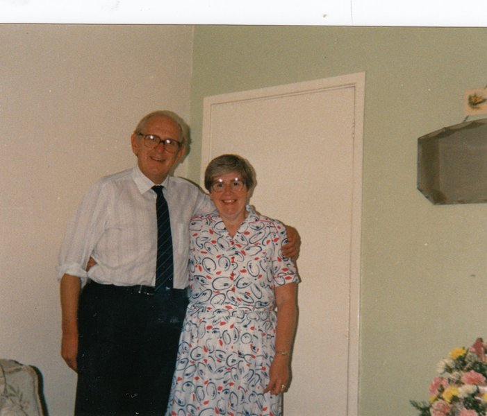Jack and Mary on their Silver Wedding Anniversary in Mosborough 1989
