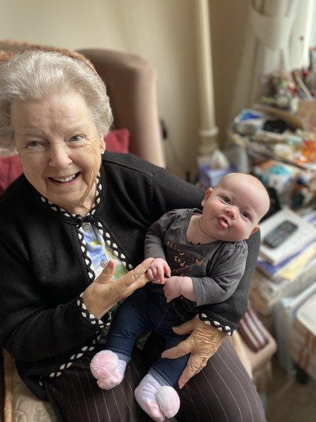 My beautiful Nana with my baby girl Lyla 💕